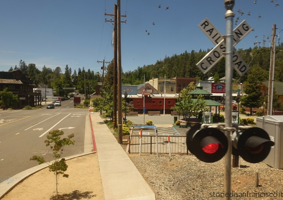 Colfax California railroad crossing