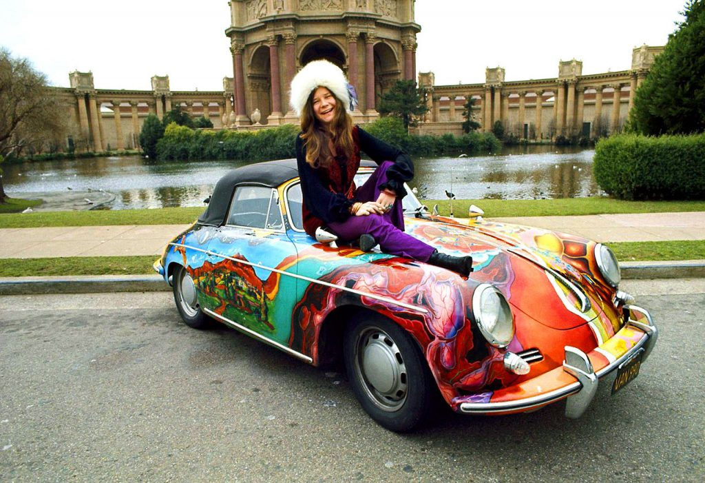 Janis Joplin in San Francisco Porsche Palace of Fine Arts