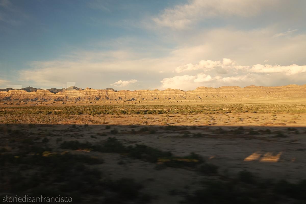 Train utah desert