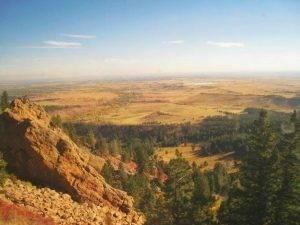 Sulle Montagne Rocciose, guardando verso gli altipiani del Colorado a bordo del California Zephyr