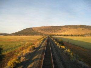 Alba sul confine tra California e Oregon a bordo del Coast Starlight