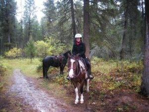 Io e Cody durante una giornata di pioggia torrenziale in Montana