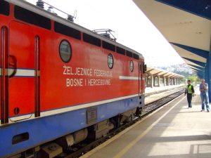 Il treno bosniaco pronto a partire
